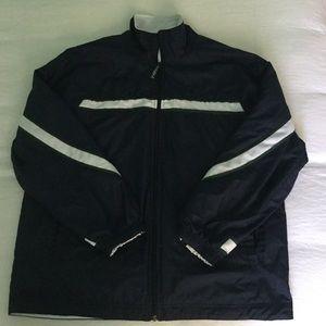 Nike reversible wind jacket navy & white, EUC